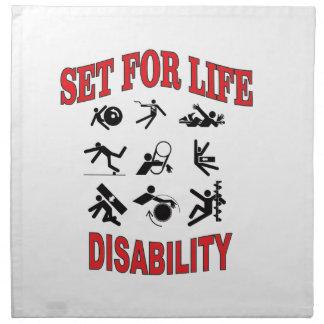 disability set for life napkin