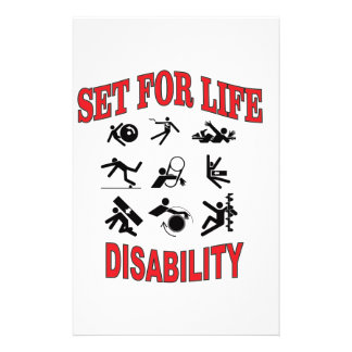 disability set for life stationery