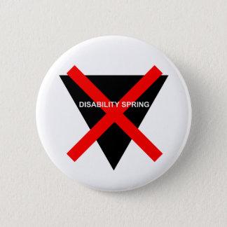 Disability Spring 6 Cm Round Badge