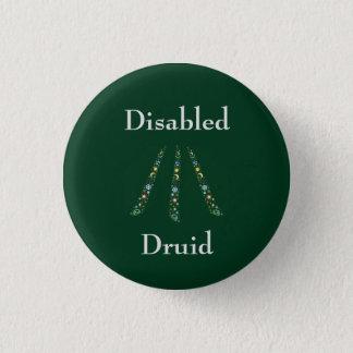 Disabled Druid 3 Cm Round Badge