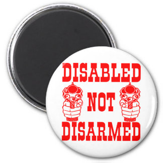 Disabled Not Disarmed 2nd Amendment Guns 6 Cm Round Magnet