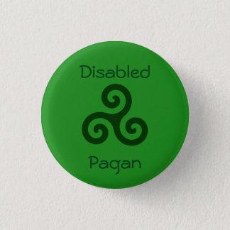 Disabled Pagan 3 Cm Round Badge