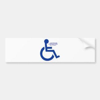 disabled sign bumper sticker