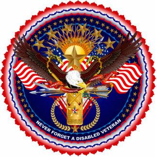 Disabled-Veteran-Version 4 pin Photo Sculpture Badge