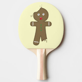 Disappearing Gingerbread Man Ping Pong Paddle