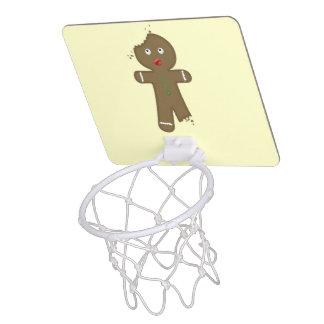 Disappearing Gingerbread Man Mini Basketball Hoops