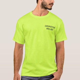 Disaster Relief Team Shirt - Safety Green - Custom
