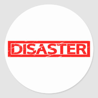 Disaster Stamp Classic Round Sticker
