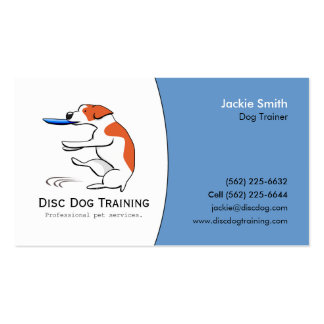 Disc Dog Trainer Pet Business Custom Logo Art Pack Of Standard Business Cards
