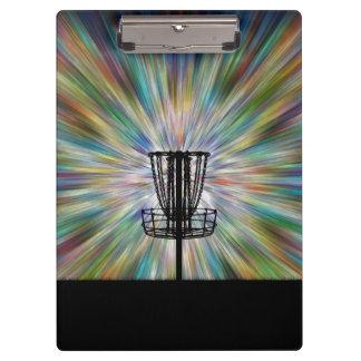 Disc Golf Basket Silhouette Clipboards