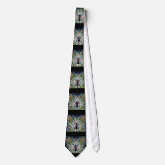 Disc Golf Basket Silhouette Tie