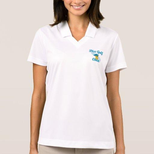 Disc Golf Chick #3 Polo Shirts