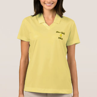 Disc Golf Chick Polo T-shirt
