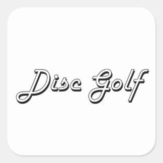 Disc Golf Classic Retro Design Square Sticker