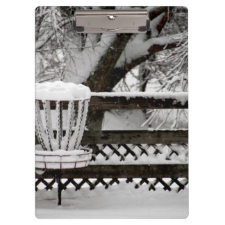 Disc Golf Goal Post in Snow Clipboards
