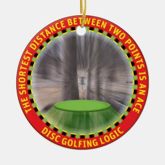 Disc Golf Logic #1 Ceramic Ornament