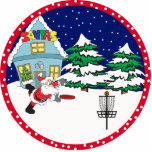 Disc Golf Santa Ornament Acrylic Cut Out