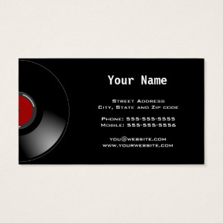Disc Jockey Business Card