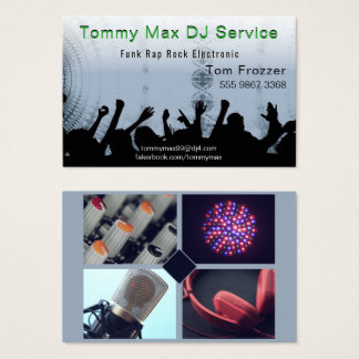 Disc Jockey DJ Dance Music Photo Template Business Card