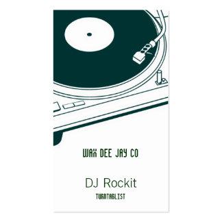 Disc Jockey Turntable Business Cards