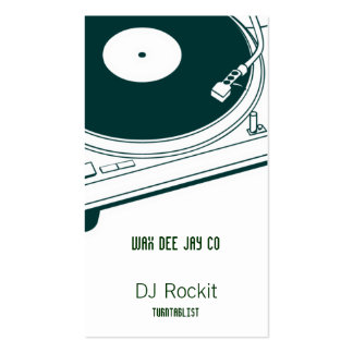 Disc Jockey Turntable Pack Of Standard Business Cards