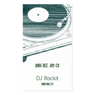 Disc Jockey Turntable Scratched Pack Of Standard Business Cards