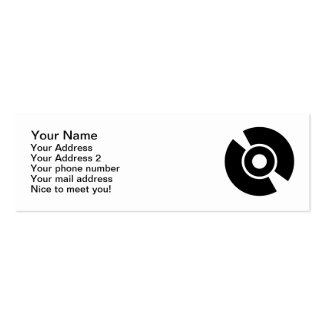 Disc vinyl icon business cards