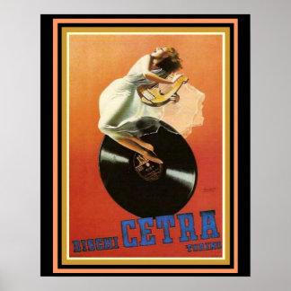 Dischi Cetra Torino Vintage Ad Poster 16x20