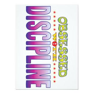 Discipline 2 Obsessed 14 Cm X 19 Cm Invitation Card