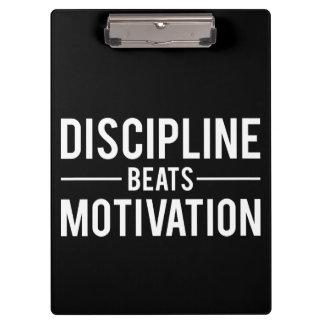 Discipline Beats Motivation - Inspirational Clipboard