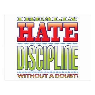 Discipline Hate Post Card
