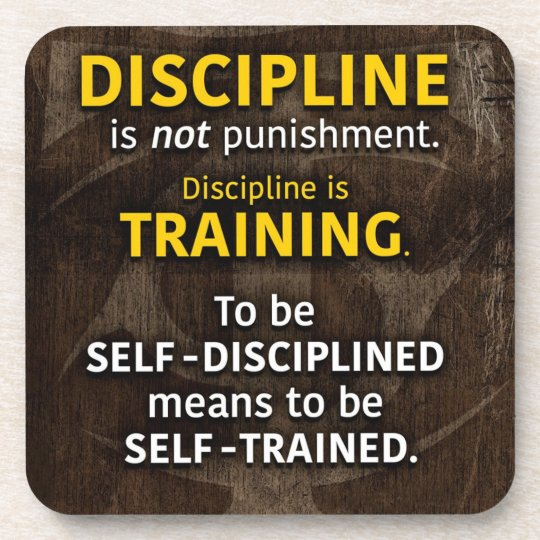 Discipline Is Training - Workout Gym Inspirational Coaster