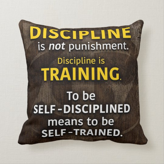 Discipline Is Training - Workout Gym Inspirational Cushion