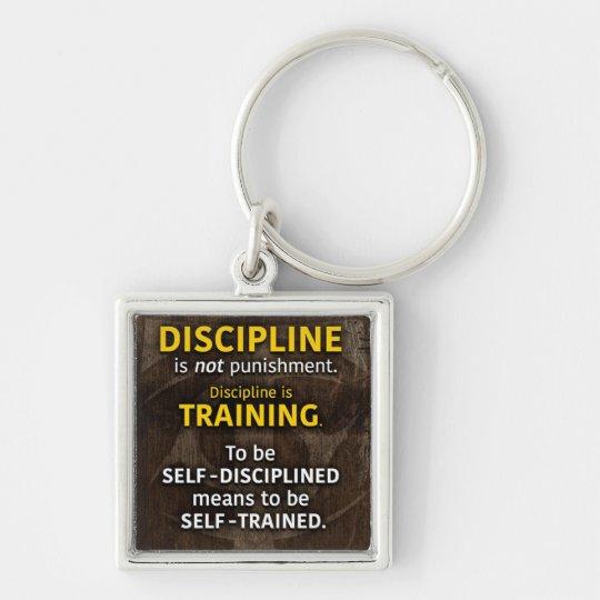 Discipline Is Training - Workout Gym Inspirational Key Ring