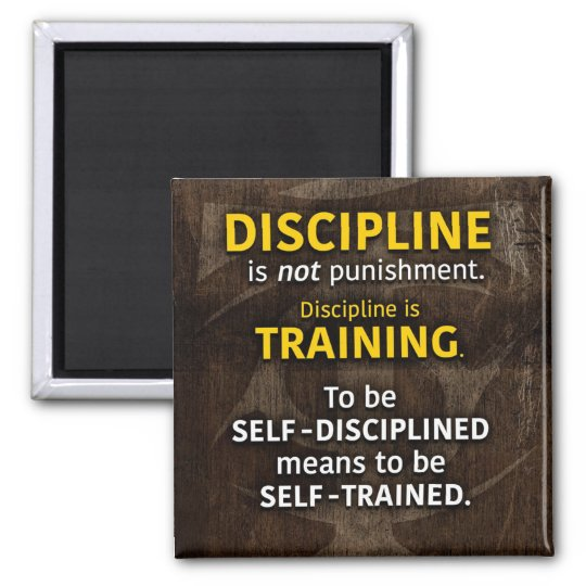 Discipline Is Training - Workout Gym Inspirational Magnet