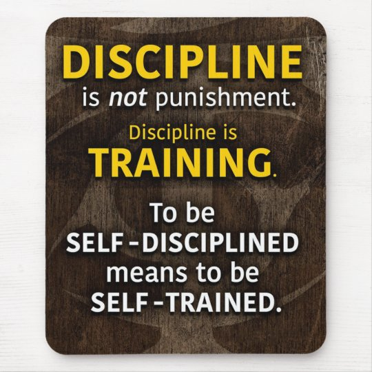 Discipline Is Training - Workout Gym Inspirational Mouse Pad