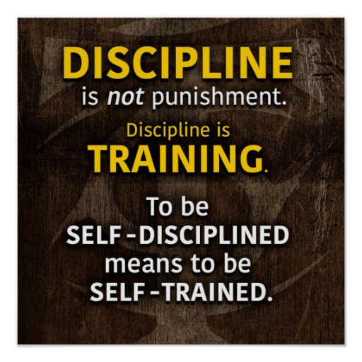 Discipline Is Training - Workout Gym Inspirational Poster