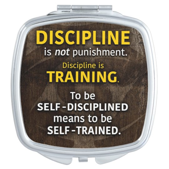 Discipline Is Training - Workout Gym Inspirational Travel Mirror