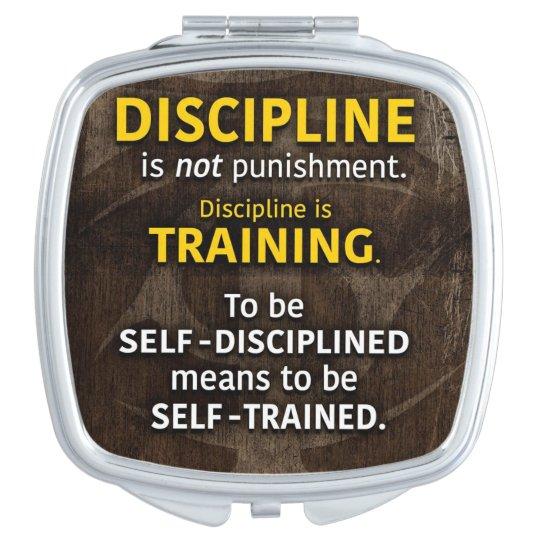 Discipline Is Training - Workout Gym Inspirational Vanity Mirror