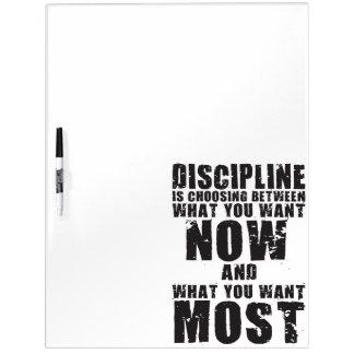 DISCIPLINE - Motivational Words Dry Erase Board