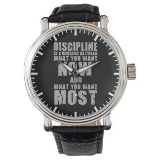 DISCIPLINE - Motivational Words Watch