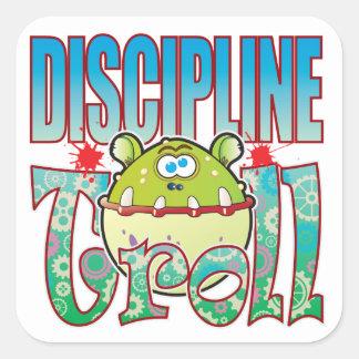 Discipline Troll Square Sticker