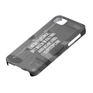 Discipline - Wanting vs Achieving, Women's Fitness Barely There iPhone 5 Case