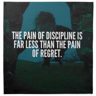 Discipline - Workout Inspirational Napkin