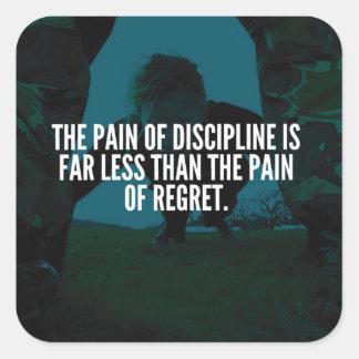 Discipline - Workout Inspirational Square Sticker