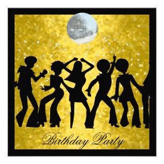Disco 70 s Birthday Party Retro Announcements