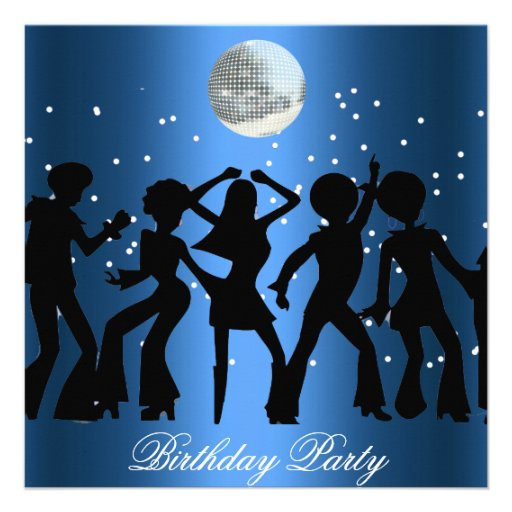 Disco 70's Birthday Party Invitation Custom Invite