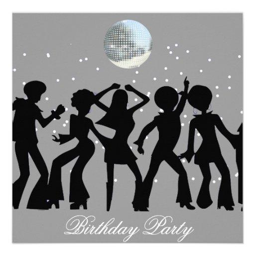 Disco 70's Birthday Party Invitation Custom Announcement