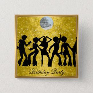 Disco 70's Birthday Party  Retro  button
