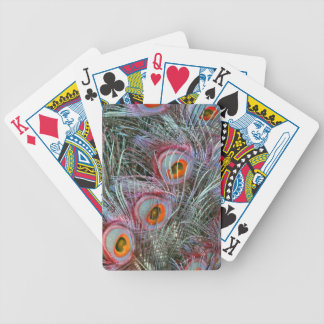 Disco 70s Peacock Eyes Bicycle Playing Cards